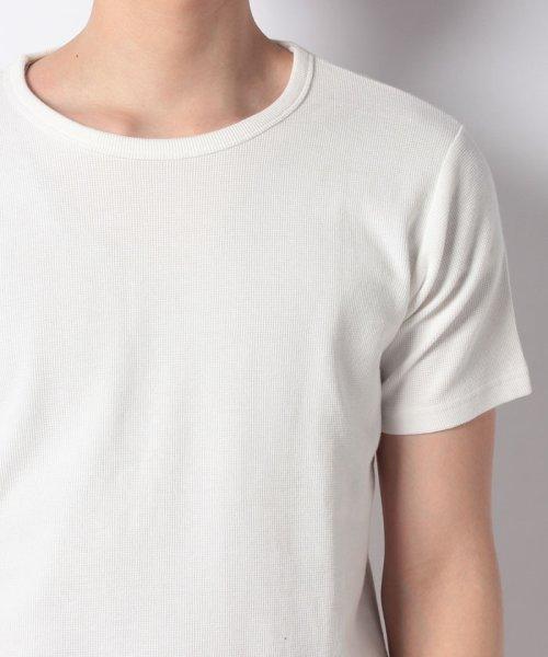 JNSJNM(ジーンズメイト メンズ)/【BLUE STANDARD】ミニワッフルクルーネックTシャツ/205297030_img03