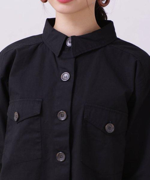 nano・universe(ナノ・ユニバース)/【WEB限定】カットオフミリタリーシャツジャケット/6759116002_img19