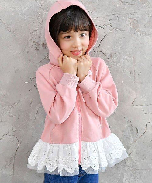 子供服Bee(子供服Bee)/レース切替え胸リボンパーカー/taa05167_img04