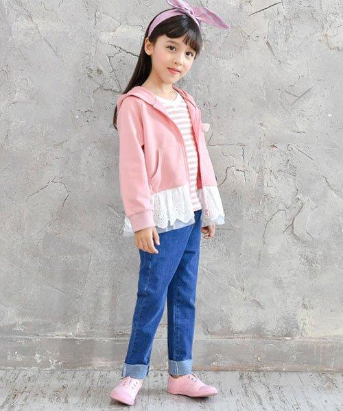 子供服Bee(子供服Bee)/レース切替え胸リボンパーカー/taa05167_img05