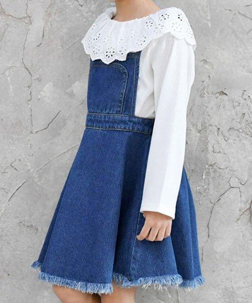 子供服Bee(子供服Bee)/フレアデニムジャンパースカート/bbb01614_img01