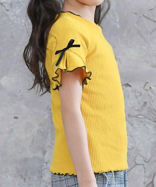 子供服Bee(子供服Bee)/リブ地半袖トップス/tbb02482_img01