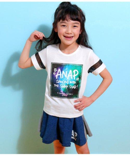 ANAP KIDS(アナップキッズ)/メッシュライン宇宙柄プリントTシャツ/0437800017_img08