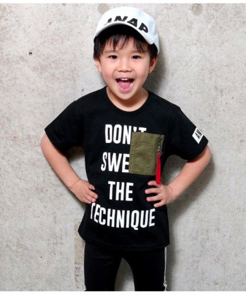 ANAP KIDS(アナップキッズ)/ミリタリーポケットTシャツ/0437800018_img01