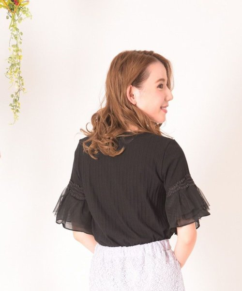 Dear Princess(ディアプリンセス)/ランダムテレコカットソー半袖Tシャツ/3082116_img04