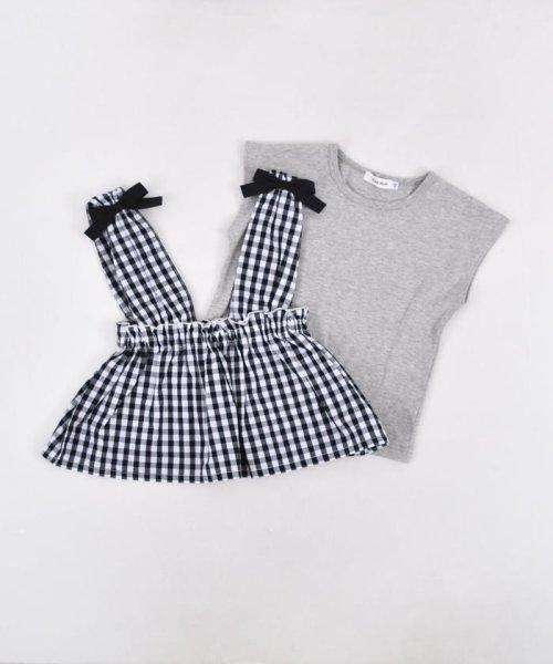 SLAP SLIP(スラップスリップ)/ブロードギンガムビスチェ付きTシャツ/180212509_img09