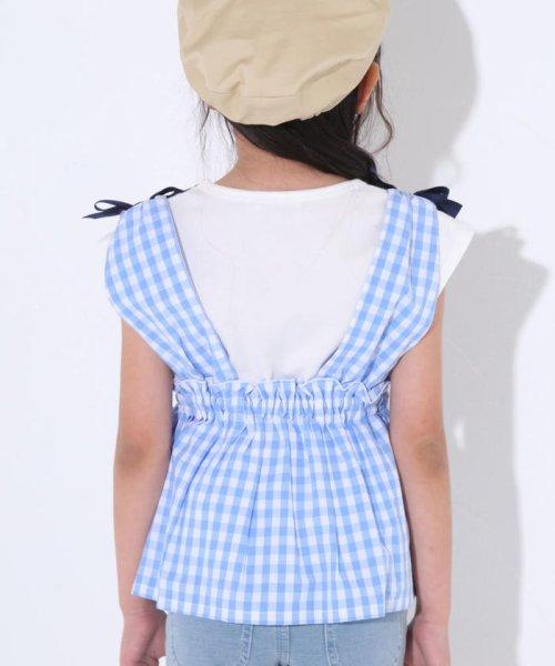 SLAP SLIP(スラップスリップ)/ブロードギンガムビスチェ付きTシャツ/180212509_img11