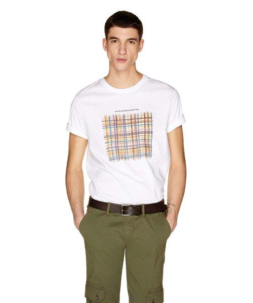 BENETTON (mens)(ベネトン(メンズ))/グラフィック半袖Tシャツ・カットソー/19P3U53J13C2_img02