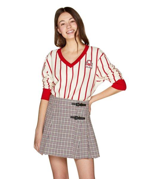 BENETTON (women)(ベネトン(レディース))/ストライプピッチ長袖Tシャツ・カットソー/19P3AYEE4210_img02