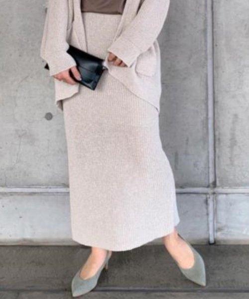 ROPE' mademoiselle(ロペ マドモアゼル)/和紙混ロングニットタイトスカート/GWC29050_img14