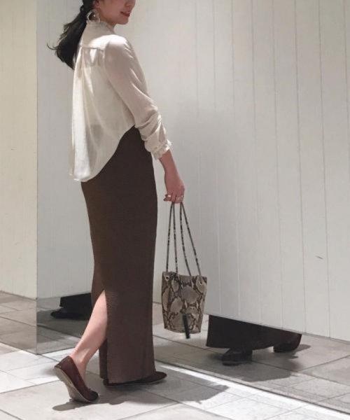 ROPE' mademoiselle(ロペ マドモアゼル)/和紙混ロングニットタイトスカート/GWC29050_img17