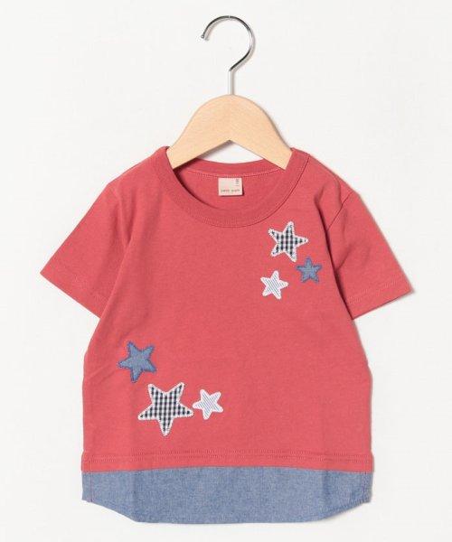 petit main(プティマイン)/星アップリケ裾シャツレイヤード風Tシャツ/9591232_img04
