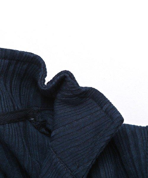 LUXSTYLE(ラグスタイル)/ランダムテレコリブイタリアンカラー半袖ポロシャツ/pm-8124_img01