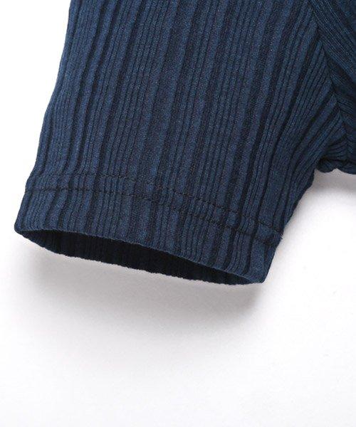 LUXSTYLE(ラグスタイル)/ランダムテレコリブイタリアンカラー半袖ポロシャツ/pm-8124_img02
