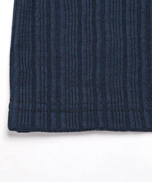 LUXSTYLE(ラグスタイル)/ランダムテレコリブイタリアンカラー半袖ポロシャツ/pm-8124_img03
