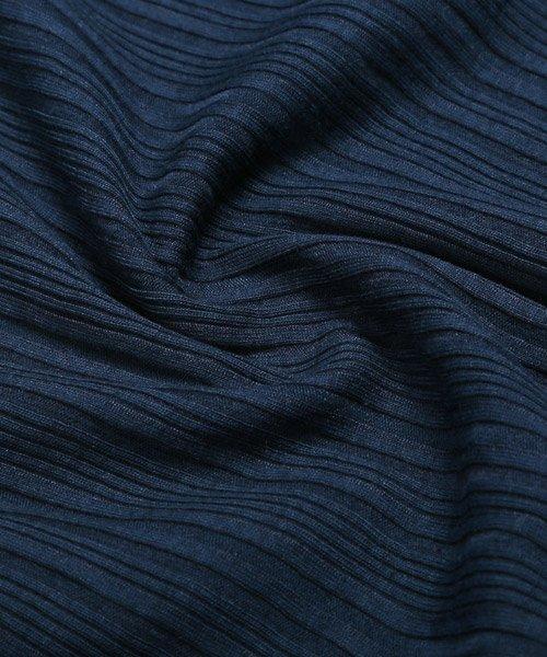 LUXSTYLE(ラグスタイル)/ランダムテレコリブイタリアンカラー半袖ポロシャツ/pm-8124_img04