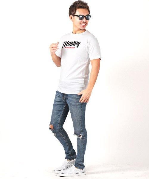 LUXSTYLE(ラグスタイル)/THUMPSロゴプリント半袖Tシャツ/pm-8189_img04