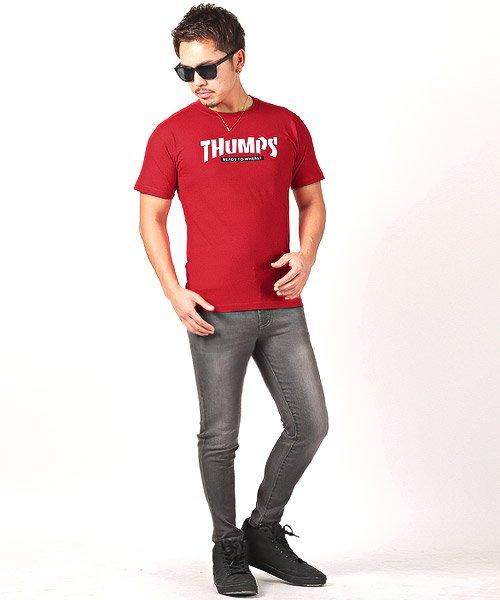 LUXSTYLE(ラグスタイル)/THUMPSロゴプリント半袖Tシャツ/pm-8189_img05