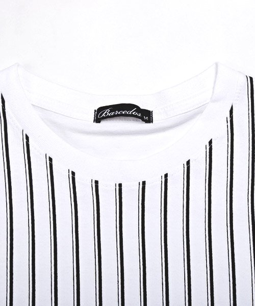 LUXSTYLE(ラグスタイル)/フロントマルチストライププリント半袖Tシャツ/pm-8191_img07