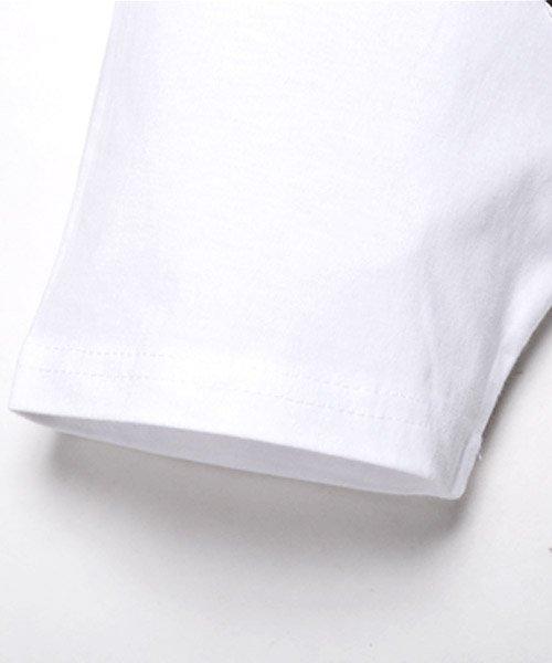 LUXSTYLE(ラグスタイル)/フロントマルチストライププリント半袖Tシャツ/pm-8191_img08