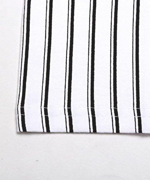 LUXSTYLE(ラグスタイル)/フロントマルチストライププリント半袖Tシャツ/pm-8191_img09