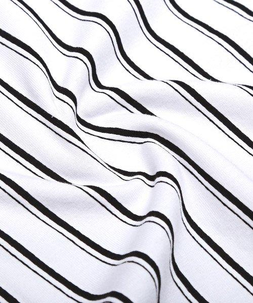 LUXSTYLE(ラグスタイル)/フロントマルチストライププリント半袖Tシャツ/pm-8191_img10