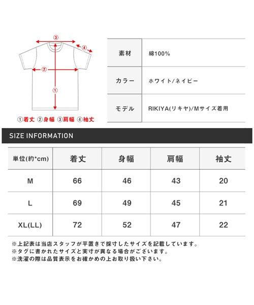 LUXSTYLE(ラグスタイル)/フロントマルチストライププリント半袖Tシャツ/pm-8191_img12