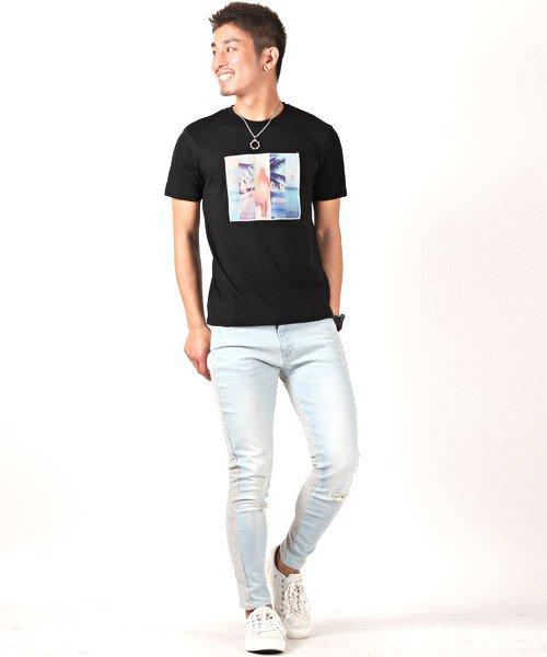 LUXSTYLE(ラグスタイル)/3D加工サマービーチフォトプリント半袖Tシャツ/pm-8223_img04