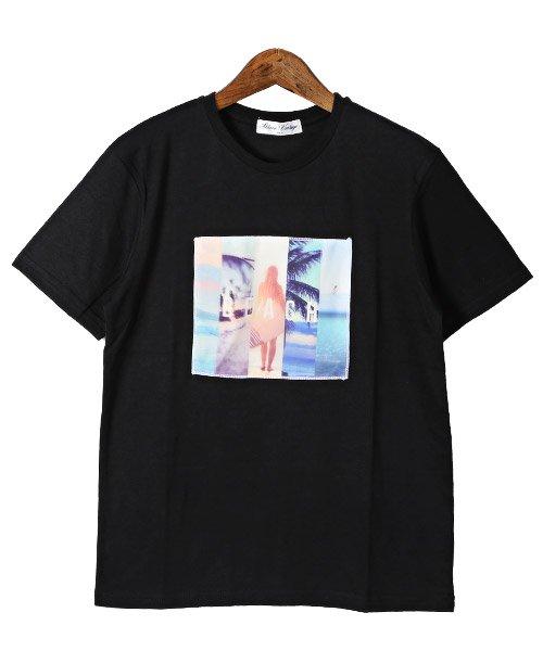 LUXSTYLE(ラグスタイル)/3D加工サマービーチフォトプリント半袖Tシャツ/pm-8223_img06