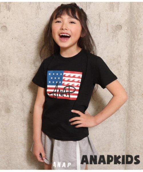 ANAP KIDS(アナップキッズ)/USAフラッグプリントTEE/0437700016_img01