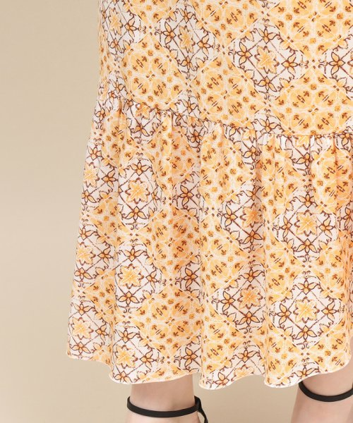 ROPE' mademoiselle(ロペ マドモアゼル)/【セットアップ対応】モザイクパターンアシメスカート/GWC49130_img05