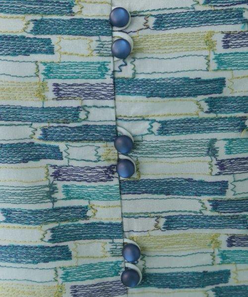 Jocomomola(ホコモモラ)/ブロック刺繍コットンワンピース/GJEFG52290_img07