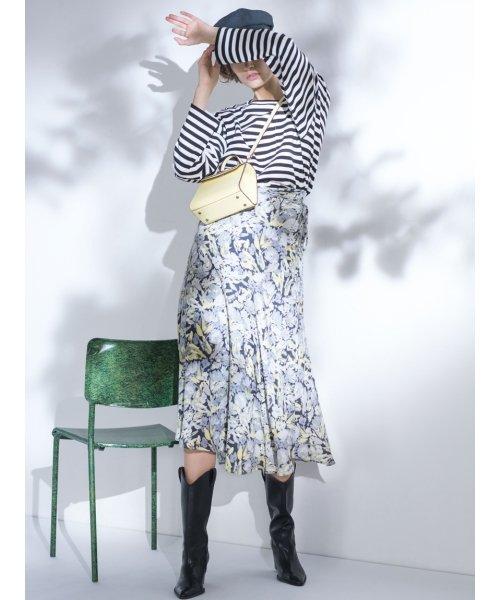 Mila Owen(ミラオーウェン)/アシンメトリーヘムジョーゼット柄スカート/09WFS191071_img12