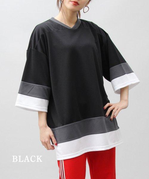 AMS SELECT(エーエムエスセレクト)/【UnitedAthle/ユナイテッドアスレ】4.1オンスドライホッケービッグTシャツ/速乾Tシャツ/CAB-A018_img03