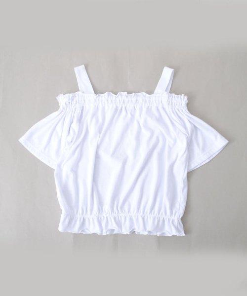 ZIDDY(ジディー)/【ニコプチ掲載】オフショル編み上げTシャツ/123512510_img02