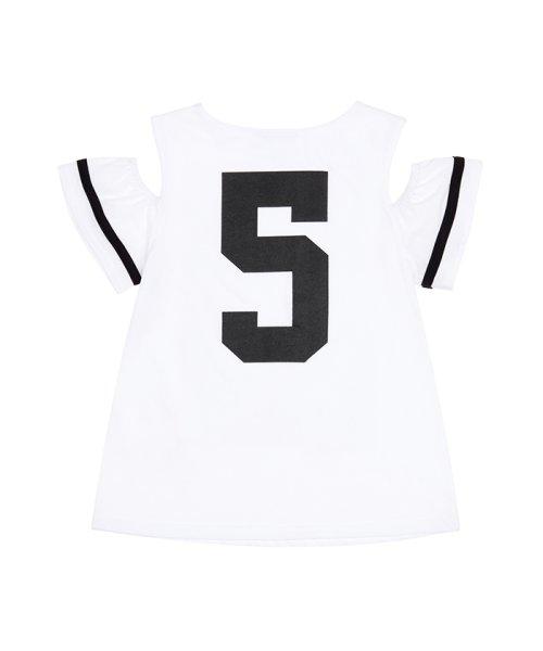 BENETTON (UNITED COLORS OF BENETTON GIRLS)(ユナイテッド カラーズ オブ ベネトン ガールズ)/オープンショルダープリント半袖Tシャツ/19P3U29C14DR_img04