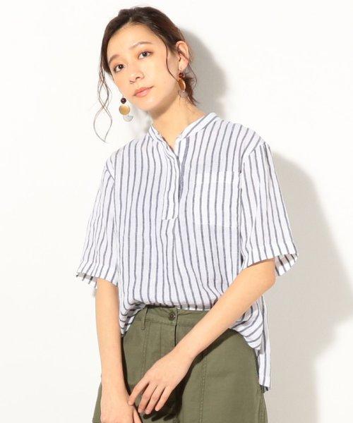 coen(コーエン)/【『リンネル』7月号掲載】フレンチリネンバンドカラーシャツ/76156009007_img05