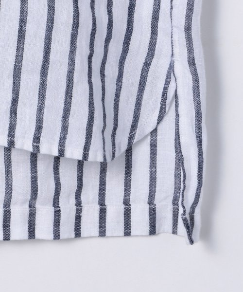 coen(コーエン)/【『リンネル』7月号掲載】フレンチリネンバンドカラーシャツ/76156009007_img22