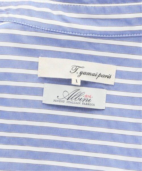 La TOTALITE(ラ トータリテ)/【TVドラマ着用】t.yamai paris ストライプシャツ/19050150000010_img14