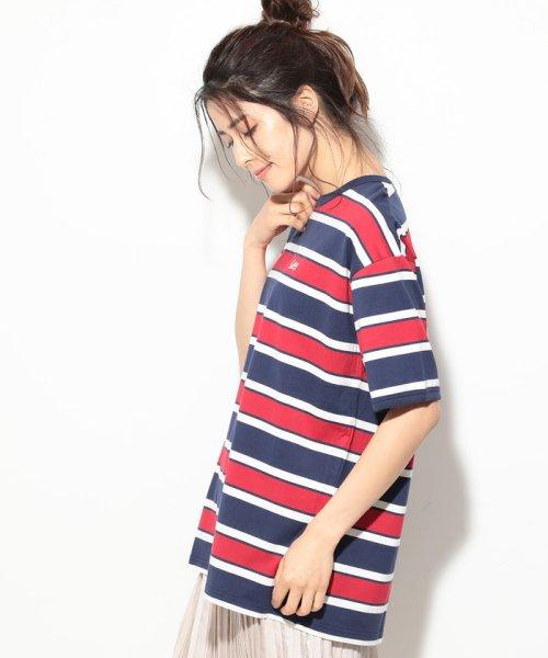 ViS(ビス)/【一部店舗限定】【Lee】ボーダークルーネックTシャツ/BVM79070_img01