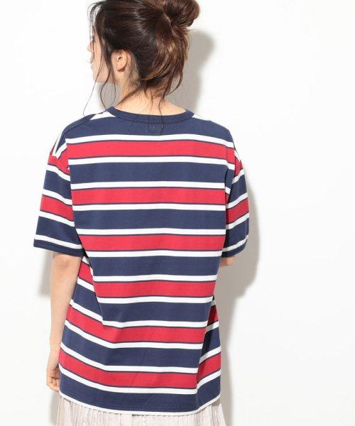 ViS(ビス)/【一部店舗限定】【Lee】ボーダークルーネックTシャツ/BVM79070_img02