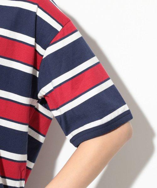 ViS(ビス)/【一部店舗限定】【Lee】ボーダークルーネックTシャツ/BVM79070_img04