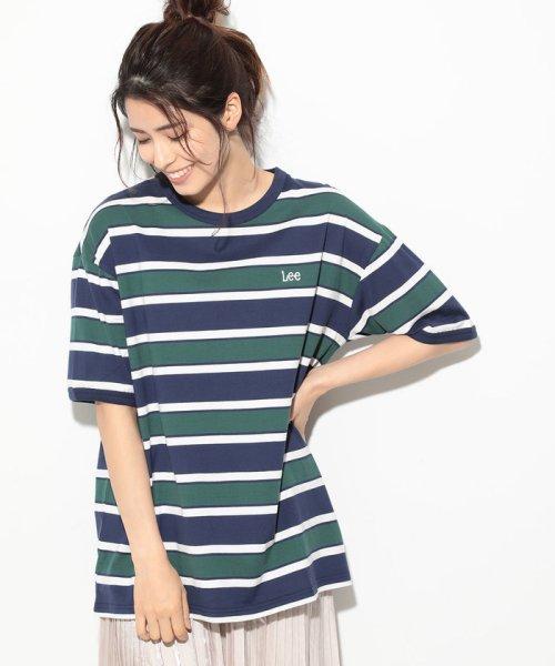 ViS(ビス)/【一部店舗限定】【Lee】ボーダークルーネックTシャツ/BVM79070_img11