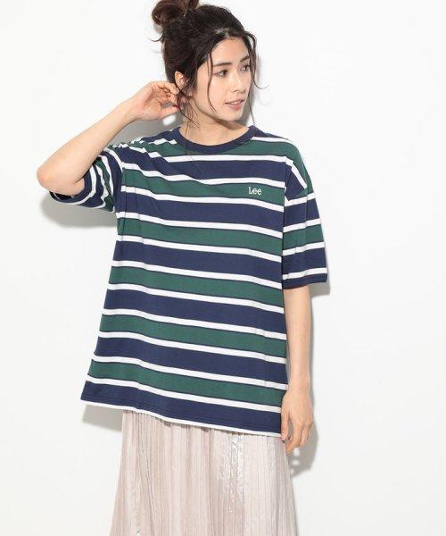 ViS(ビス)/【一部店舗限定】【Lee】ボーダークルーネックTシャツ/BVM79070_img12