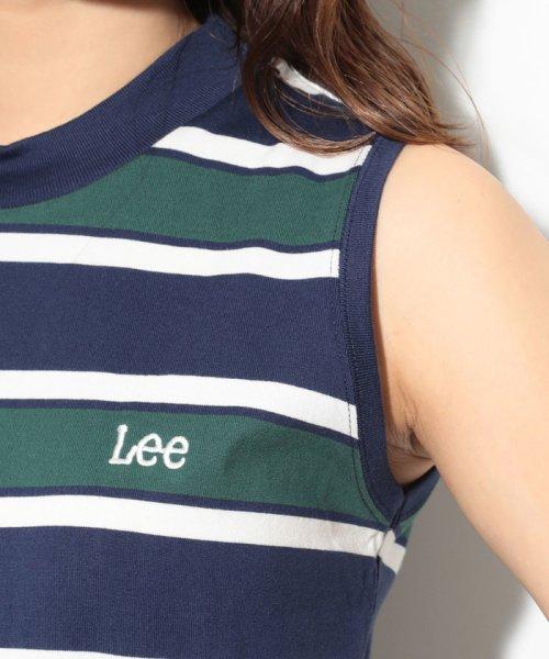 ViS(ビス)/【一部店舗限定】【Lee】ボーダーモックネックノースリーブ/BVM79090_img04