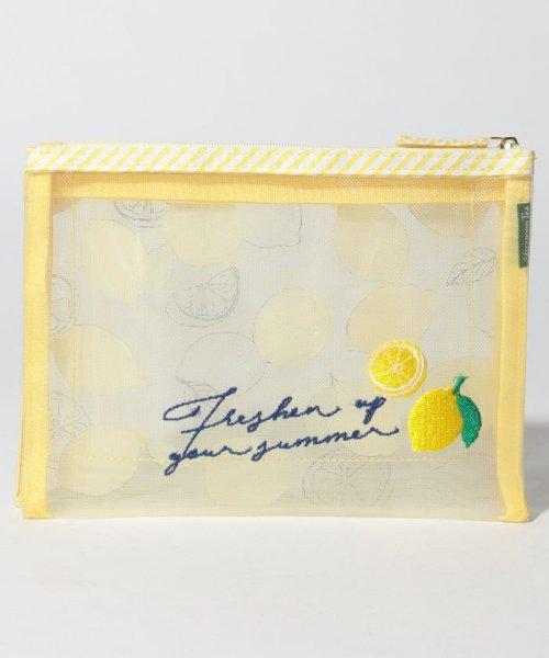 Afternoon Tea LIVING(アフタヌーンティー・リビング)/レモン柄メッシュダブルポーチ/GB8619203883_img02