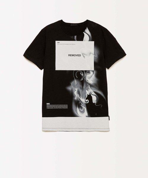 SISLEY(シスレー(メンズ))/スラブグラフィックプリント半袖Tシャツ・カットソー/19P3APUO12EI_img01