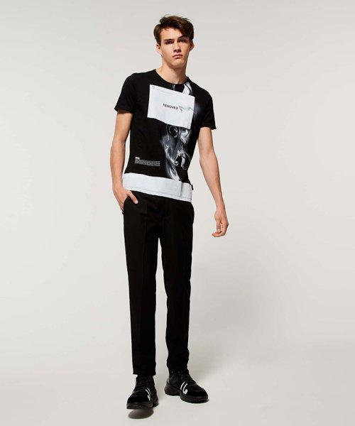 SISLEY(シスレー(メンズ))/スラブグラフィックプリント半袖Tシャツ・カットソー/19P3APUO12EI_img02