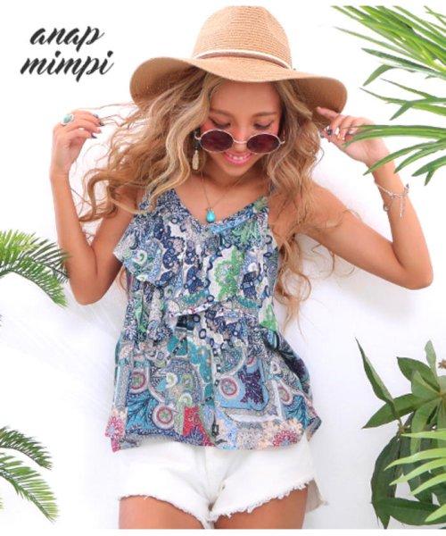 anap mimpi(アナップミンピ)/ペイズリーフリルキャミソール/0935200048_img01