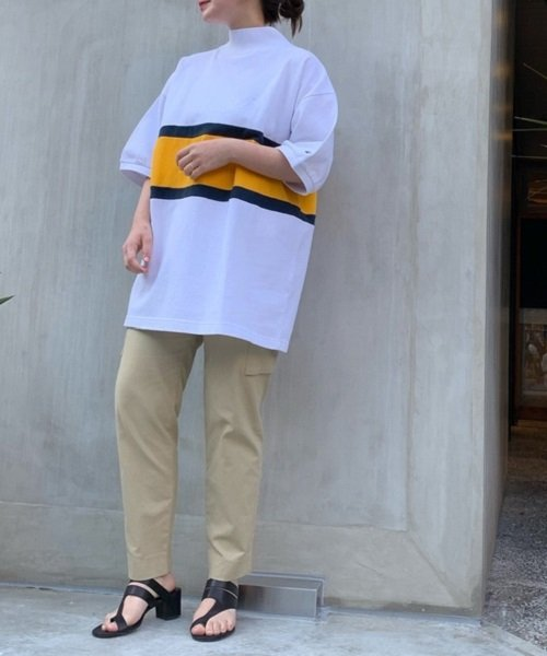 nano・universe(ナノ・ユニバース)/【MIHO NOJIRI × nano・universe】Champion/別注カノコカラーブロックTシャツ/6719124029_img15